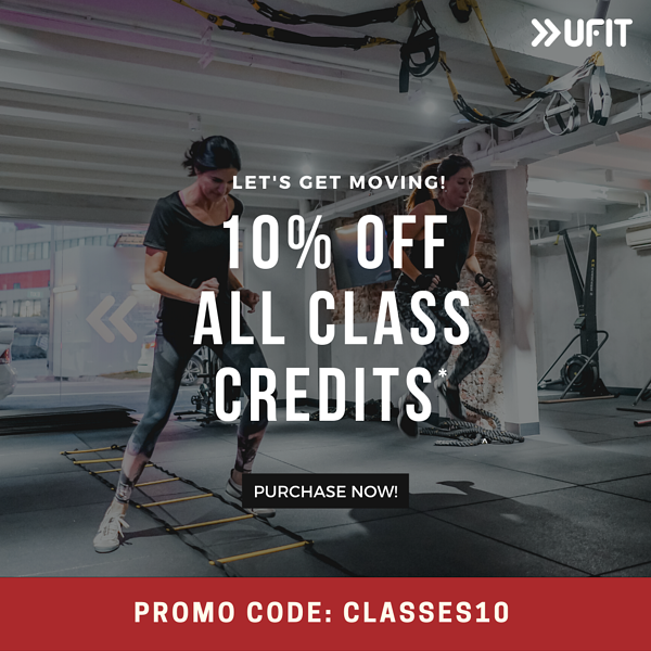 10% off class credits at UFIT Singapore