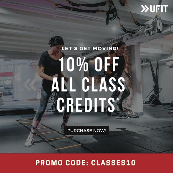 10% off Class Credits