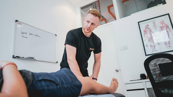 Physio treatment at UFIT Clinic one-north