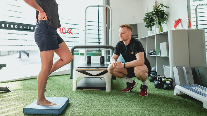 Physiotherapy and rehabilitative exercises at UFIT one-north Clinic