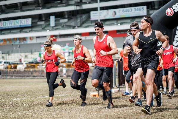 Team UFIT Participants Running at the Spartan Race