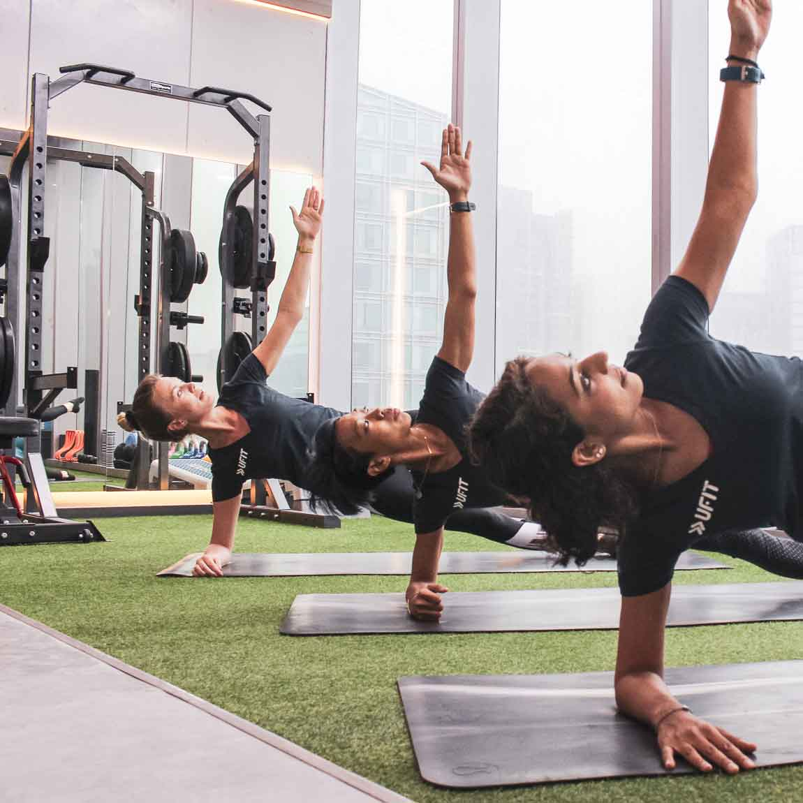Pilates classes in a group