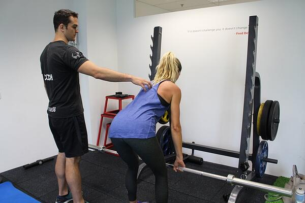 UFIT Physiotherapist and Head of Fitness Declan Halpin at a physio session