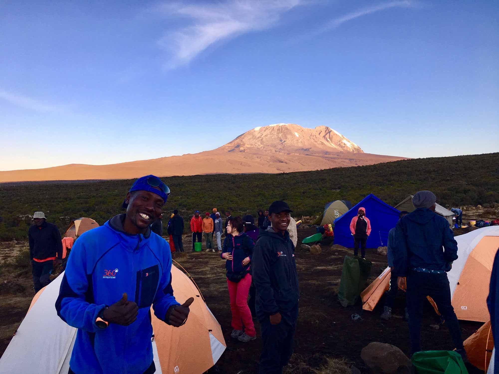 Camp at Mount Kilimanjaro