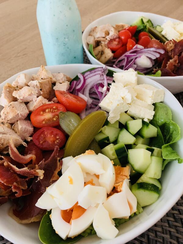 Ploughmans Lunch with Creamy Ranch Dressing