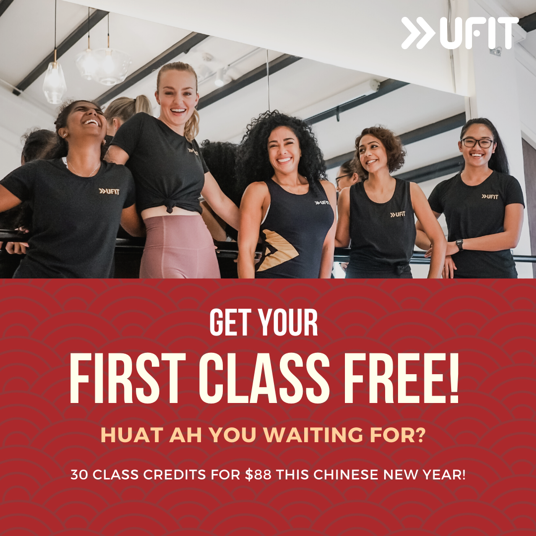 Get your first group fitness class free at UFIT Singapore