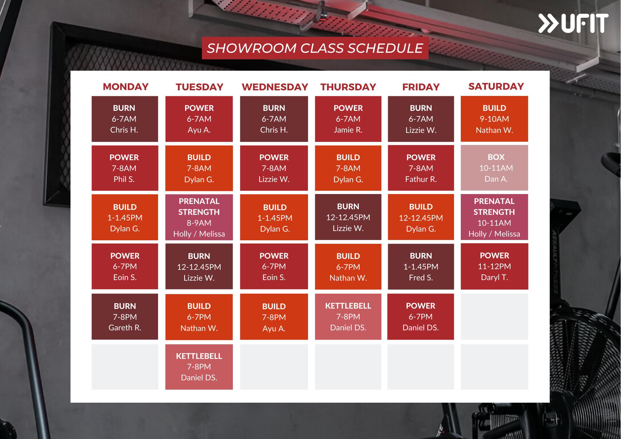 UFIT Club St Indoor Class Showroom Schedule-1