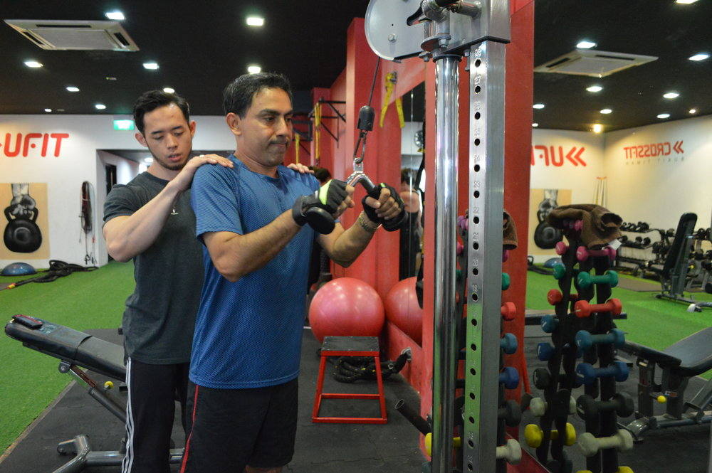Amoy Personal Training Triceps Pulldowns
