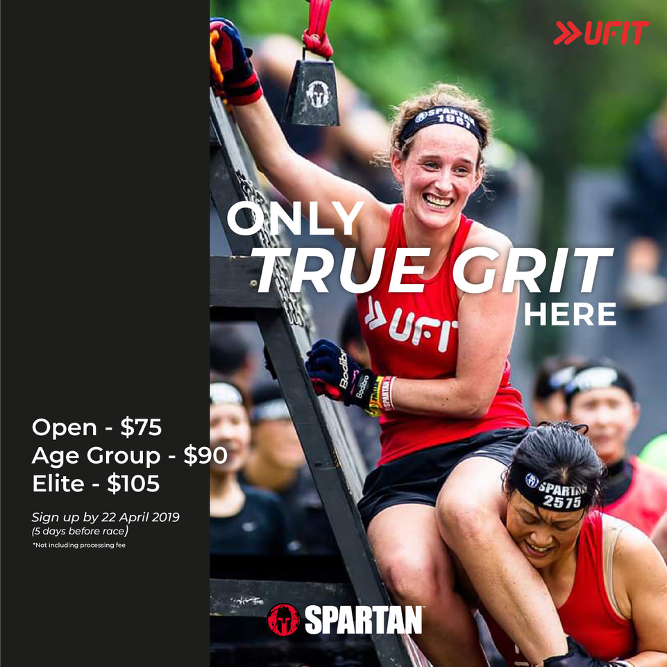 Sign up with us to enjoy discounted rates* for the upcoming Spartan Race happening on 27 April 2019!