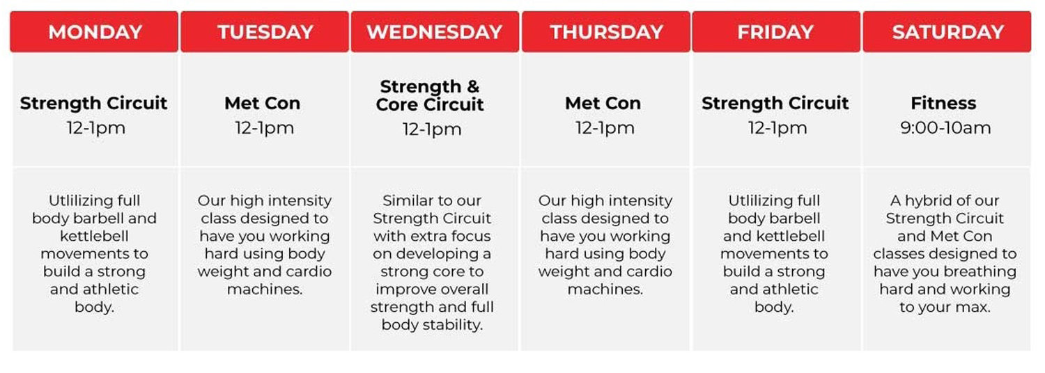 UFIT SMALL GROUP-TRAINING SESSIONS SCHEDULE