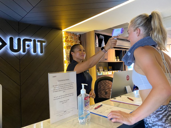 Routine temperature check at all UFIT outlets