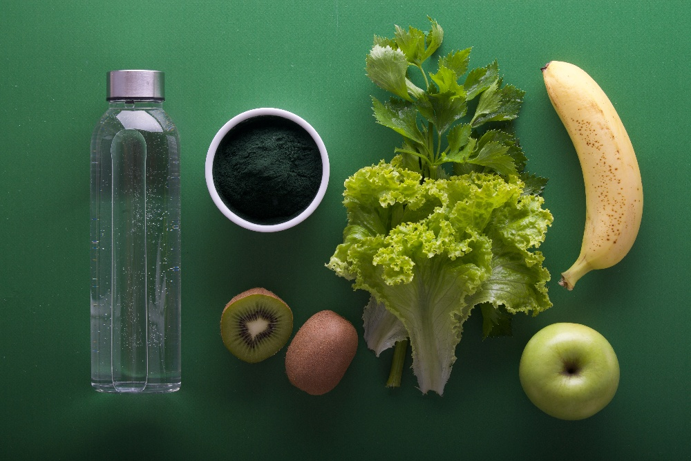 Water, Fruits and Vegetables