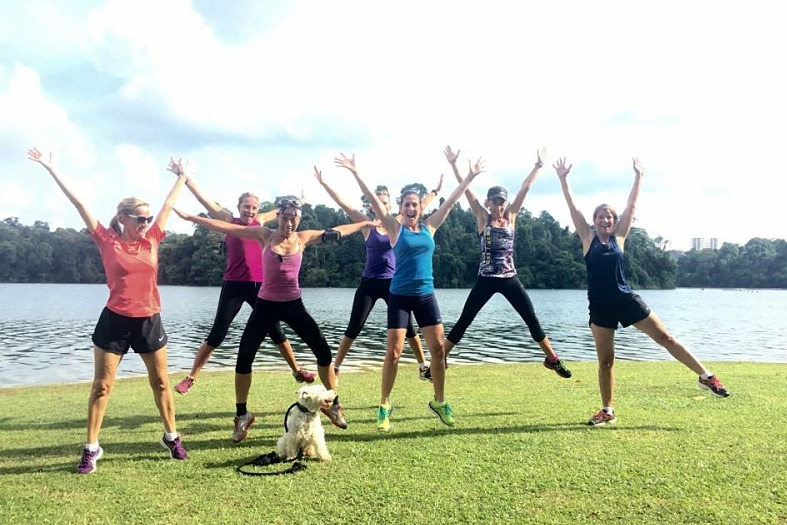 Sunshine, endorphins, and good friends - the perfect way to start a morning!