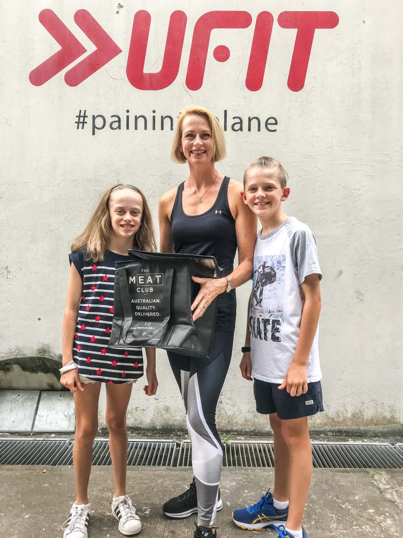 Female winner Lee-Ann and her very supportive kids.