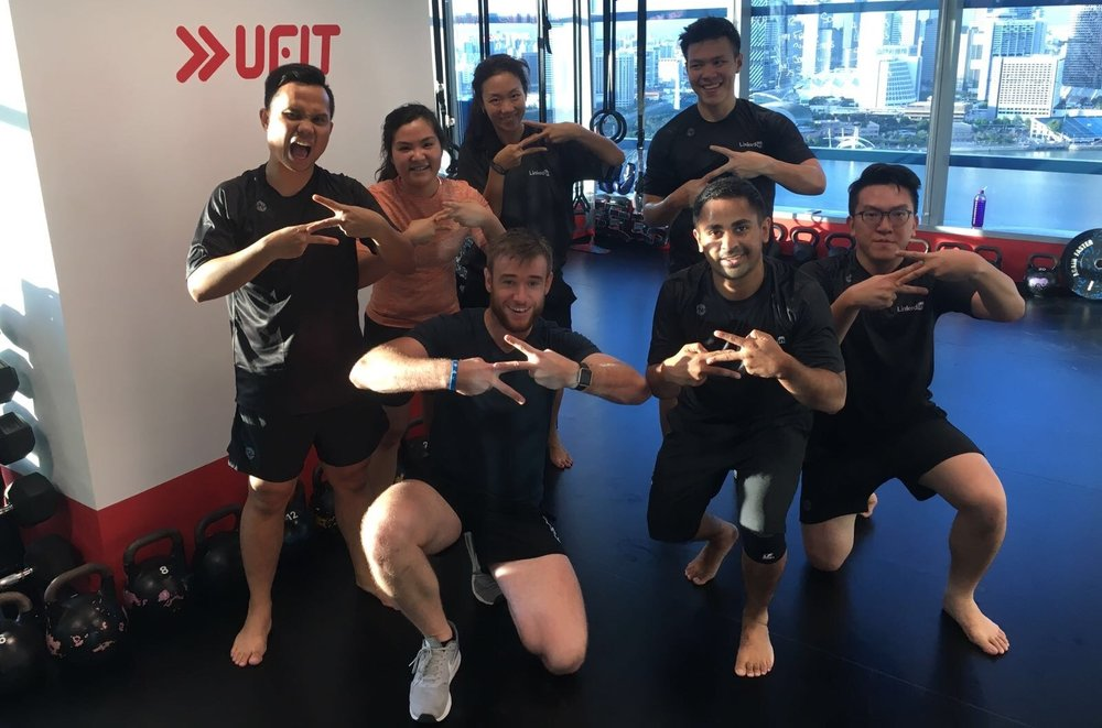 UFIT branded gym at LinkedIn - ZUU class