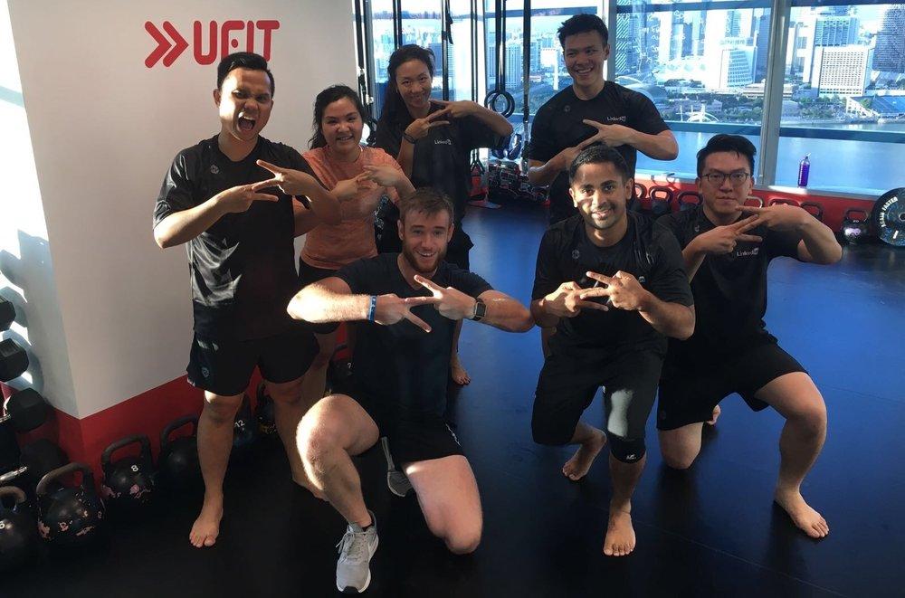 UFIT branded gym at LinkedIn - ZUU class