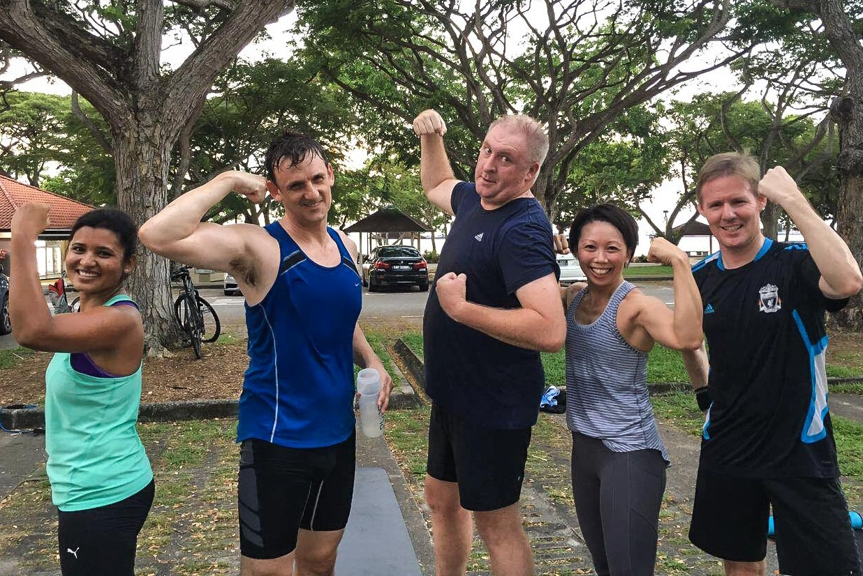 Michelle (second from right) is a familiar face within the UFIT community for the last couple of years.