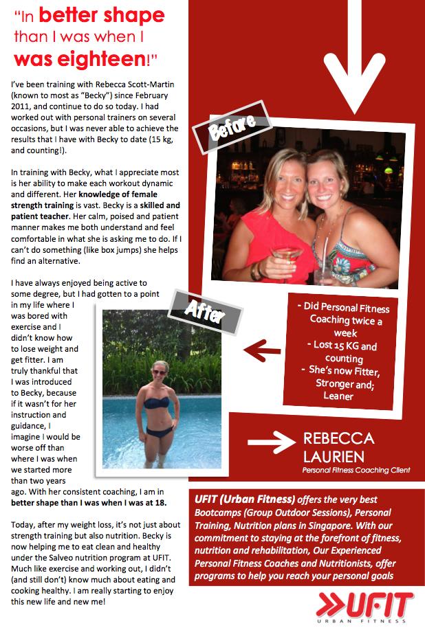 Rebecca's Amazing Body Transformation!