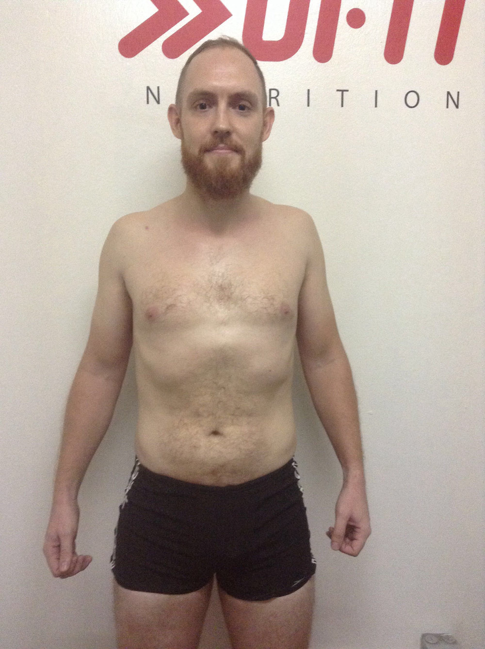 After the Challenge, 16 June 2017 - Body Fat 12.73%, 77.8kg