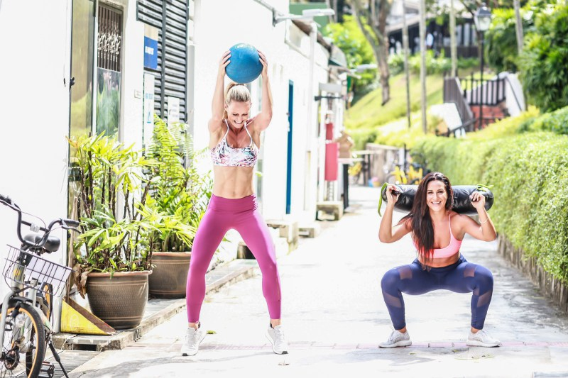 The author Tsvety (left) is a mother of a toddler, and a strength training coach at UFIT.